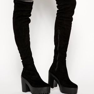 Over the Knee Chunky Platform Boot